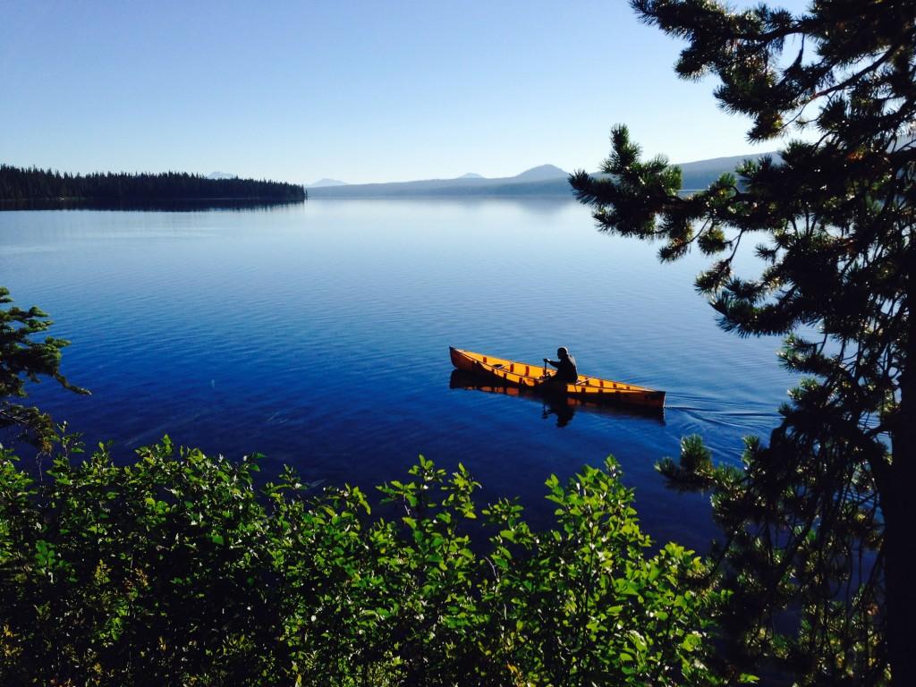 Paddle People's Russ Woodward at Waldo Lake Summer of 2015