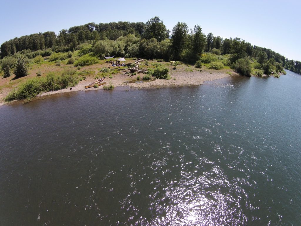 Paddle People Support Camp for Paddle Oregon Pod Leader Training Camp 2016 on Willamette River