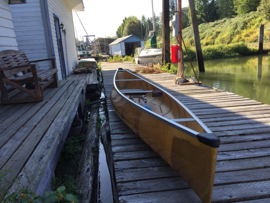 Wenonah Encounter Kevlar Canoe on Dock - www.PaddlePeople.us