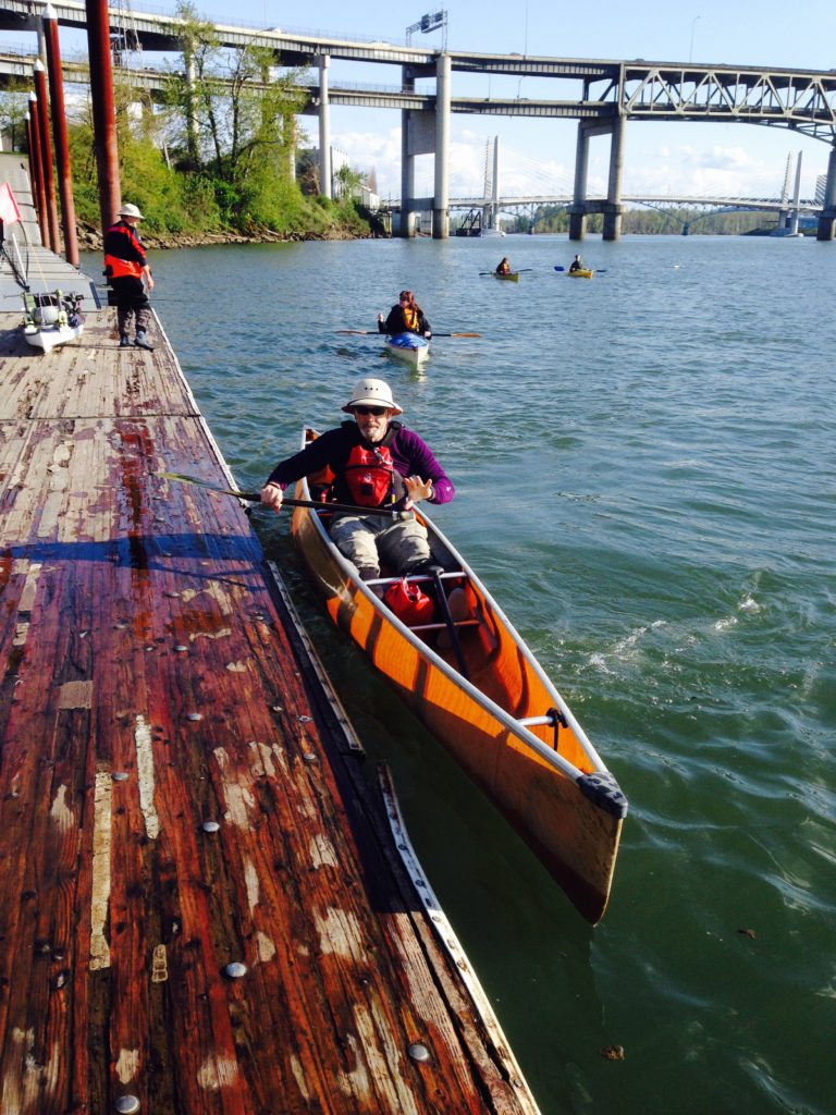 wenonah-voyager-canoe-russ-woodward-at-omsi-on-willamette-river