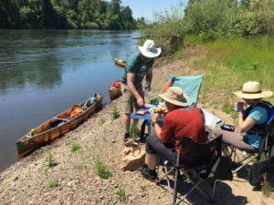 Willamette River Oregon Wenonah Canoes Lunch - www.PaddlePeople.us
