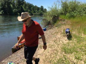 Russ Woodward Pixie McClellan Willamette River Oregon Wenonah Canoes - www.PaddlePeople.us
