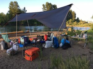 Riverside Camp on Willamette River Oregon with Wenonah Canoes - www.PaddlePeople.us