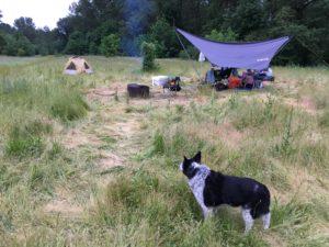 Pixie McClellan Catlin Woodward at Willamette River Camp - www.PaddlePeople.us