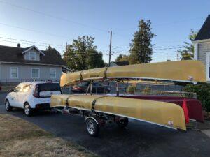 MicroSport Canoe Trailer Kia Soul Tacoma Washington