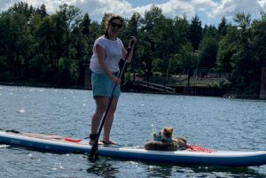Pomeranian on PaddleBoard